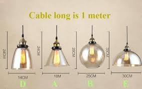 edison pendant light modern glass pendant lights industrial pendant lamp bar restaurant light transpa amber glass