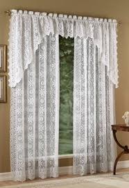 White Lace Curtains Living Room