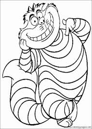 Small Picture Cheshire Cat Coloring Pages Simple New Top Hat In In Planning