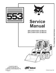 bobcat 553 6900450 1 98 service manual auto repair manual bobcat 553 6900450 1 98 service manual