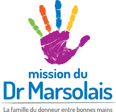 Centre logo – the hand symbol - Dr Marsolais' mission