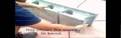 Seating Wall Blocks E Z Block Curved Wall Demonstration Youtube