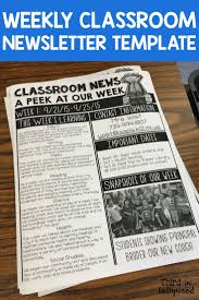 Best 25 Classroom Newsletter Ideas On Pinterest Weekly