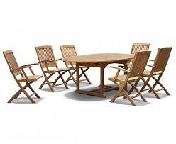 brompton teak extendable garden table