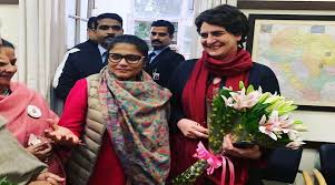 Image result for priyanka gandhi in lucknow