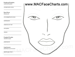 Face Charts To Print Blank Mac Face Chart