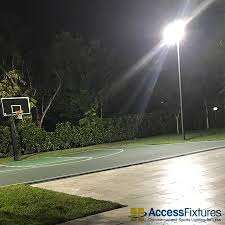 half outdoor court lighting 47 x 50 area 26 fc