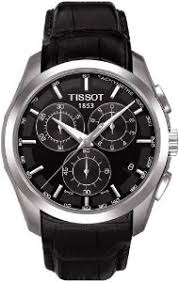 tissot men s couturier 41mm black leather band steel case sapphire tissot men s couturier 41mm black leather band steel case sapphire crystal quartz watch t035 617 16 051 00