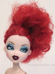 Image result for red head to toe, red lipstick, red eyes, red hair