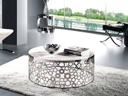 black and silver coffee table modern luxury coffee table silver metal drum coffee table silver adorable