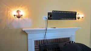 are you interested in mounting tv above fireplace. Photo 5 Of 7 Hiding Wires For Wall Mounted Tv Over Fireplace #5 Top Mount Above With Are You Interested In Mounting