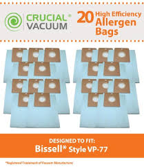 detail 20 bissell vp 77 vacuum bags fits bissell power partner canister vacuums power partner plus canister vacuums pare to part 203 2026