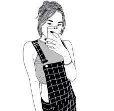 мy wiиdσw iร σρєи ρєтєя ραи. cσмє тαkє мє αwαy. ] | Menina tumblr desenho,  Desenhos tumblr preto branco, Imagens de mulher gravida