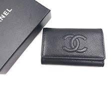 chanel keychain wallet. chanel black caviar key chain holder keychain wallet