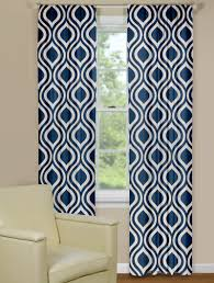 Geometric Patterned Curtains Retro Curtain Panels In Indigo Play Room Pinterest Retro