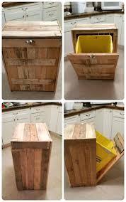 Hidden Trash Can Cabinet Garbage.