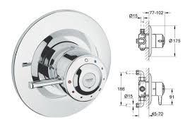 grohe avensys shower single control do8 shower mixer 1 2 chrome