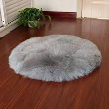 rambling soft round artificial sheepskin rug chair cover wool warm carpet seat for cleaning london round sheepskin rug real chair