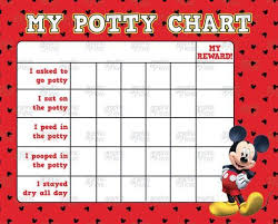 Digital Mickey Mouse Potty Training Chart Free Punch Cards