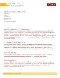 college syllabus template aspen valencia college news