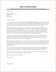 Cover Letter Sample For It Program Manager Granitestateartsmarket Com