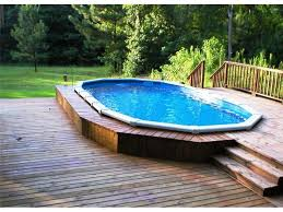 Above ground pool design ideas with lawn much nicer look than stand alone pool