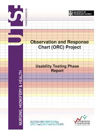 Observation And Response Chart Orc Project
