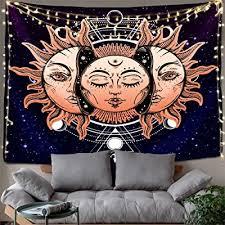 mystic tarot card small wall tapestry