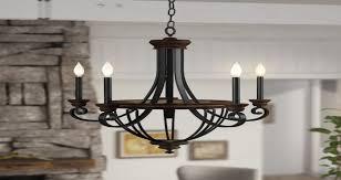 laurel foundry modern farmhouse nanteuil 5 light empire chandelier