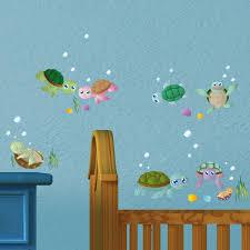 Wandsticker Set A4 Lustige Schildkröten