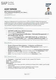 Resume For Sap Abap Fresher Sap Resume Sample Isale Sap Hana Sap