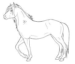 Kleurplaten Printen Paarden