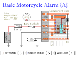 two simple relay based motorbike alarms relay alarm no 5 veroboard layout