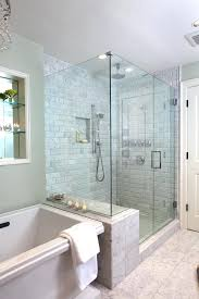glass walk in shower enclosure room with tub bathtub awesome design ideas