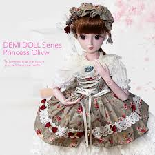ucanaan 1 3 bjd doll children toys 19 ball jointed body with full accessories s diy makeup dolls best birthday gift for kids doll clothes 12 inch baby