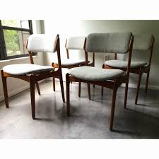 danish dining table and chairs inspirational dining room chair height vine erik buck o d mobler danish