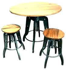 wood pub table and chairs round with bar set dark sets