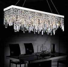 captivating linear crystal chandelier in modern contemporary broadway lighting lamp