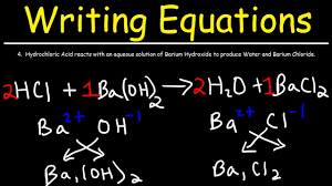 how to write chemical equations from word descriptions