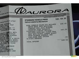 2001 Oldsmobile Aurora 3.5 Window Sticker Photo #53418292 ...