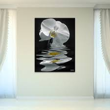 bruce bain x27 white orchid x27 canvas wall art  on orchid canvas wall art with shop bruce bain white orchid canvas wall art white on sale