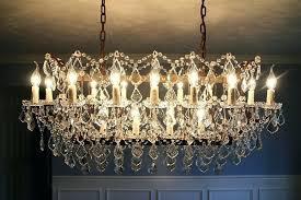 iron rectangular chandelier rococo crystal chandelier restoration hardware c rococo iron clear crystal rectangular chandelier by