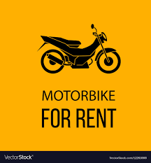 Rent Poster Motorbike For Rent Poster Royalty Free Vector Image