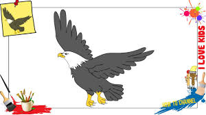 Small Picture How to draw an Eagle EASY SLOWLY step by step for kids YouTube