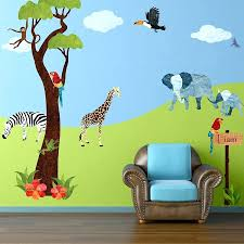 giant dinosaur wall decals animal stencils stickers and coordinating home  decor for children jungle safari wall
