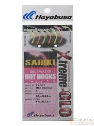 Hayabusa Xtreme Glo Shrimp Sabiki Rig Size 8