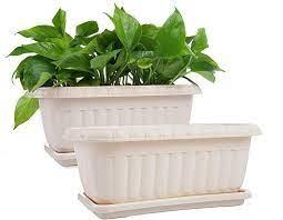 mkono 2 pack rectangular planter window