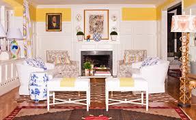 Dana Gibson Interior Designer Dana Gibson Main Image Fireplace Yellow Living Dana