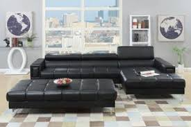 leather sectional couches. Exellent Sectional 2Pcs Black Bonded Leather Sectional Sofa  F7363 Throughout Couches E
