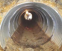 the invert of this corrugated metal pipe culvert under route 4 in delaware rusted through and the original bedding was beginning to migrate into the pipe